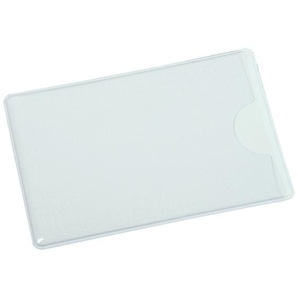 Eichner PVC-Kreditkartenhülle weiß/transparent,