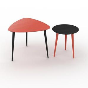 Couchtisch Wenge, Holz - Eleganter Sofatisch: Beste Qualität, einzigartiges Design - 59/40 x 50/44 x 61/40 cm, Konfigurator