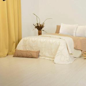 Sei Design Tagesdecke »Empress«, 240x260 cm, beige