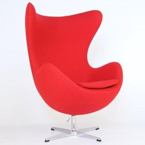 Egg Sessel Arne Jacobsen - Rot