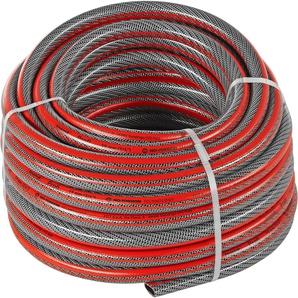 Profi-Gartenschlauch PVC grau/rot 25 m