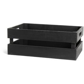 Dekokiste, 34x21x13cm, schwarz