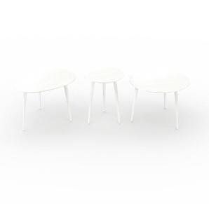 Couchtisch Weiß - Eleganter Sofatisch: Beste Qualität, einzigartiges Design - 67/40/60 x 44/50/44 x 50/40/60 cm, Konfigurator