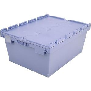 BITO-Lagertechnik Mehrwegbehälter MB Deckel/Bügel/Kufe / MBD86321 800x600x323 taubenblau Deckel