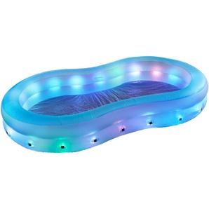 Pool mit LED beleuchtung Blau, Grün, Rot, Weiß