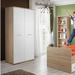 JUSTyou Dino II Schlafzimmerset Schlafzimmerkombination Schlafzimmer Komplett Sonoma Eiche | Weiß