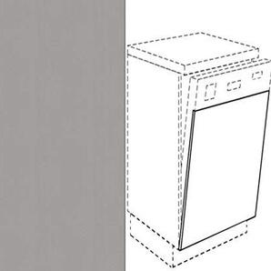 Premium-Ambiente AMEIV0005 Unterschrank Front für Geschirrspüler FE (Breite 45cm-integriert, 05 Aluminium)