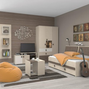 moderne komplett jugendzimmer bei moebel24. Black Bedroom Furniture Sets. Home Design Ideas