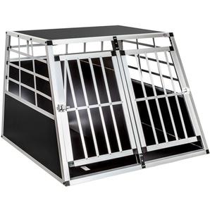 Hundetransportbox doppel mit gerader Rückwand 97 x 90 x 69,5 cm
