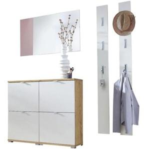 Möbel-Set »Colorado« 5-teilig, 2x Schuhschrank mit Spiegel und 2 Garderobenpanee eiche, Germania-Werke