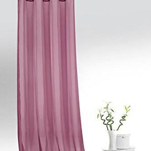 Fashion&Joy - Ösenschal Voile Beere HxB 245x140 cm - transparent einfarbig - Dekoschal Gardine Typ418