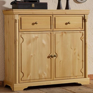 Sideboard Home affaire »Vilma« Breite 90 cm, natur, Gr. onesize, HOME AFFAIRE, Material: Metall, Holz