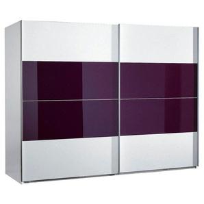 Wimex Schwebetürenschrank »Easy«, mit Teilglas, lila
