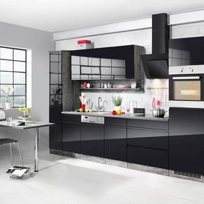 HELD MÖBEL Küchenzeile mit E-Geräten »Virginia«, Breite 390 cm