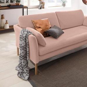 andas 3-Sitzer »Helsingborg«, in skandinavischem Design in 2 Bezugsqualitäten, rosa, Baumwolle