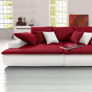 Big-Sofa, wahlweise in 2 Größen, weiß, Kunstleder SOFTLUX® / Struktur