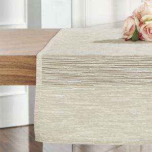 Tischläufer  Bombay | beige | 86% Polyester, 14% Baumwolle | 45 cm | Möbel Kraft