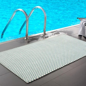 Pad home Design Pool Outdoor Teppich, 92 x 172 cm, opal-weiß, aus Polypropylen
