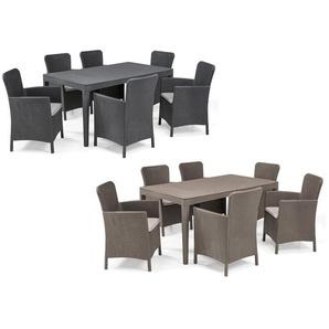 Allibert Gartenmöbel Set »Girona-Miami«, mit 6 Sesseln, 1 Tisch, in Rattanoptik, wetterfest