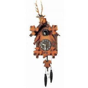 RHYTHM Uhr CUCÚ, Holz, Braun, 24,6cm x 60,0cm x 15,0cm