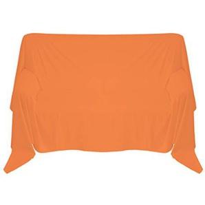 Nurtextil24 Sofaüberwurf in 30 Farben und 4 Größen Überwurf aus 100% Baumwolle Orange 210 x 240 cm