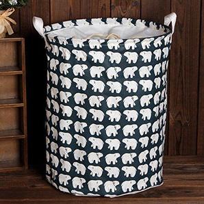 Schmutzige Kleidung Korb, windgoal Wasserdicht Kleidung Wäschekorb Aufbewahrungskorb Baumwolle Leinen Blatt Wäschekorb Falt-Aufbewahrungsbox Aufbewahrungsbox #3