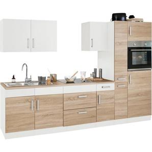 HELD MÖBEL Küchenzeile »Gera«, mit E-Geräten, Breite 300 cm