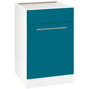 wiho Küchen Spülenschrank »Flexi2« Breite 50 cm, blau