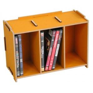 Medienbox DVD gelb goldgelb Holzwerkstoff Werkhaus