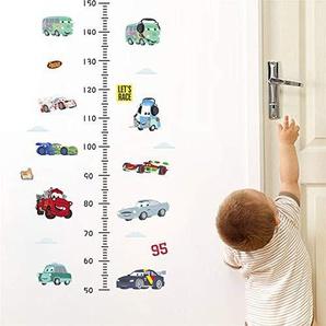 ufengke Autos Lets Race Höhe Messen Wandaufkleber Wandtattoo Wandsticker Vinyl Wanddekor für Kinderzimmer Schlafzimmer Wohnzimmer