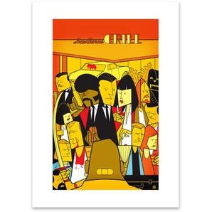 Pulp Fiction von Ale Giorgini, 42 x 59cm (A2) Gerahmte Kunstdrucke