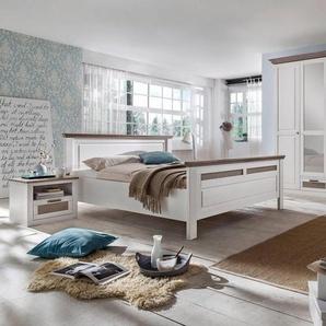 Premium collection by Home affaire Schlafzimmer-Set »Lugano«, (Set, 4-tlg), 5-trg Schrank, Bett 180/200 cm, 2 Nachttische