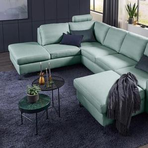 Set One By Musterring Wohnlandschaft »SO 1100«, grün, B/H/T: 334x45x53cm, 5 Jahre Hersteller-Garantie, hoher Sitzkomfort
