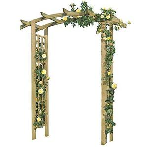 Gartenpirat Rosenbogen aus Holz 160x72x210 cm Pergola mit Rankgitter