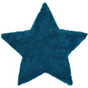 for friends Handtuft-Teppich  Trendy ¦ blau ¦ 100 % Polypropylen ¦ Maße (cm): B: 100 Teppiche  Auslegware » Höffner