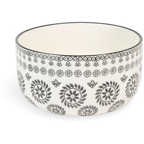 Salatschüssel CHIANG MAI aus Keramik, schwarz/ weiß