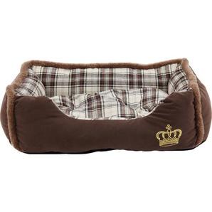 Heim Hunde- und Katzenbett Krone 75 cm x 58 cm x 19 cm