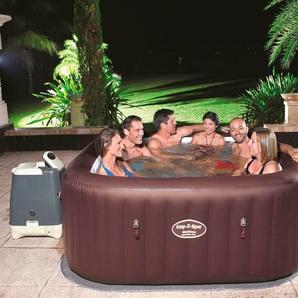 BESTWAY Set: Whirlpool »Lay-Z-Spa™ Maldives HydroJet Pro™«, 6-tlg., BxLxH: 201x201x80 cm