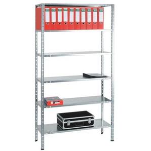 Grundregal »Multiplex 6 OH« 100 x 40 cm grau, OTTO Office, 100x200x40 cm