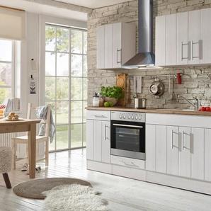 RESPEKTA Komplett-Set: Küchenzeile mit E-Geräten »Ulm«, Breite 210 cm