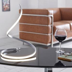 LED-Tischleuchte Flamina Silber warmweiss 17 Watt Aluminium, Tischleuchten