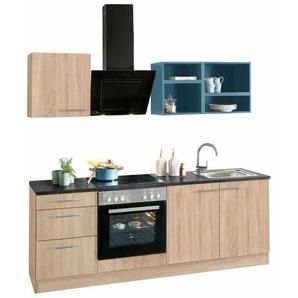 OPTIFIT Singleküche »Mini« mit E-Geräten, Breite 210 cm, blau