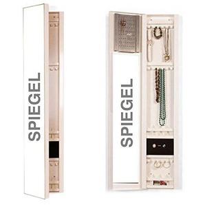 Unbekannt Schmuckschrank +SP, mit Spiegel Aussen - Tür und zusätzlichem Innenspiegel, Metall, Schmuckkasten, Höhe 120cm