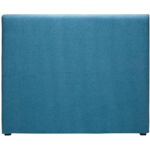 Bezug für Bettkopfteil 140cm aus kobaltblauem Stoff MORPHEE