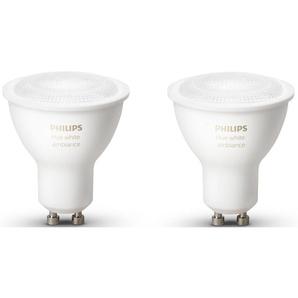 Philips Hue LED-Lichtsystem, GU10, 2 Stück, Neutralweiß, Tageslichtweiß, Warmweiß, Extra-Warmweiß, Farbwechsler, smartes LED-Lichtsystem mit App-Steuerung
