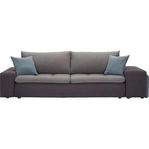 Carryhome: Sofa, Hellgrau, Hellblau, Dunkelgrau, B/H/T 257-267 69-79 103