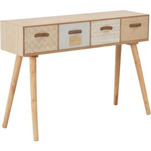 Konsolentisch mit 4 Schubladen 110x30x75 cm Massivholz Kiefer - VIDAXL