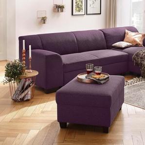 Home Affaire Ecksofa »Wanda« mit Bettfunktion, rot, hoher Sitzkomfort