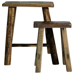 2-tlg. Sitzhocker-Set