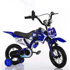 Kinder Bike Moto Bike Boy Bike Kinder Mountainbike Kids Moto Bike (Mehrere Größen erhältlich) ( Color : Blue , Size : 21 in )